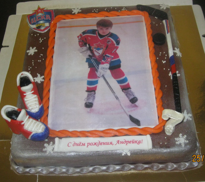Торты фото хоккеисты