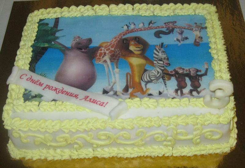 Торт для мальчика с фото