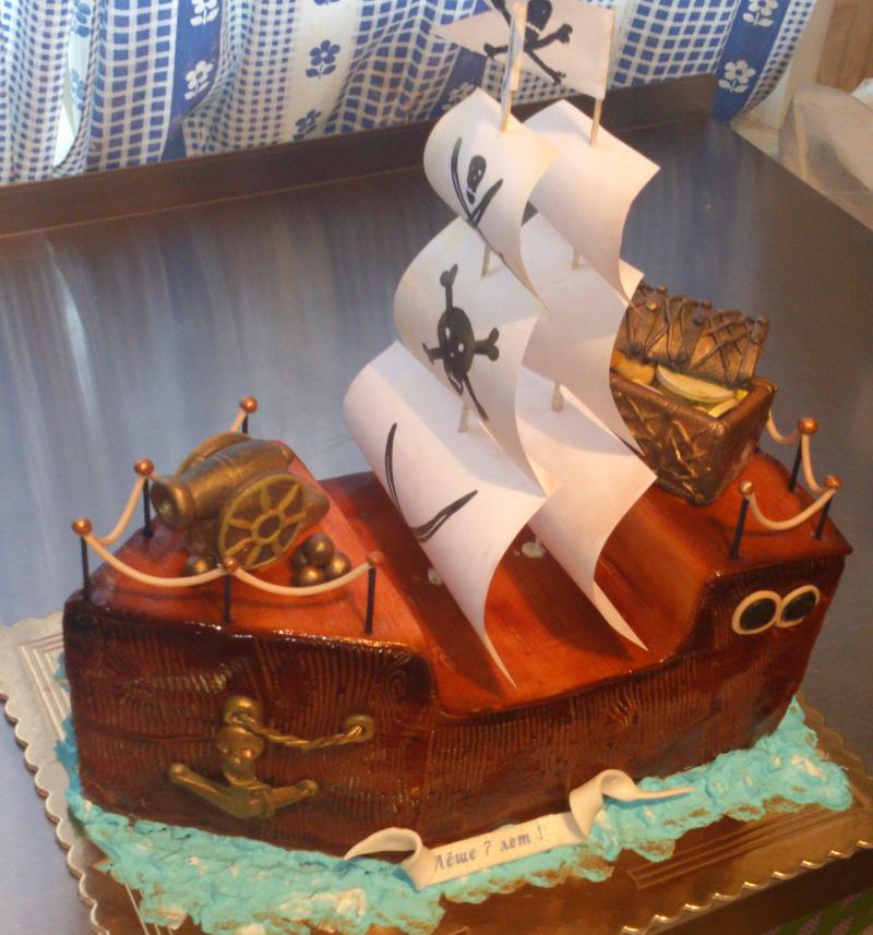 Фото тортов карабль