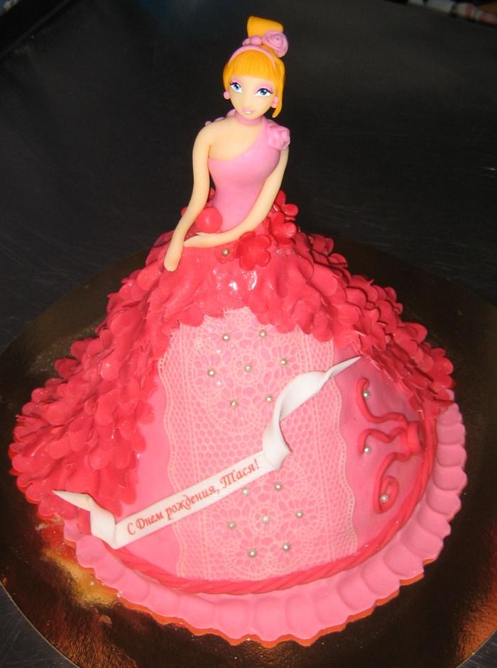 Как сделать торт девочке самой 350