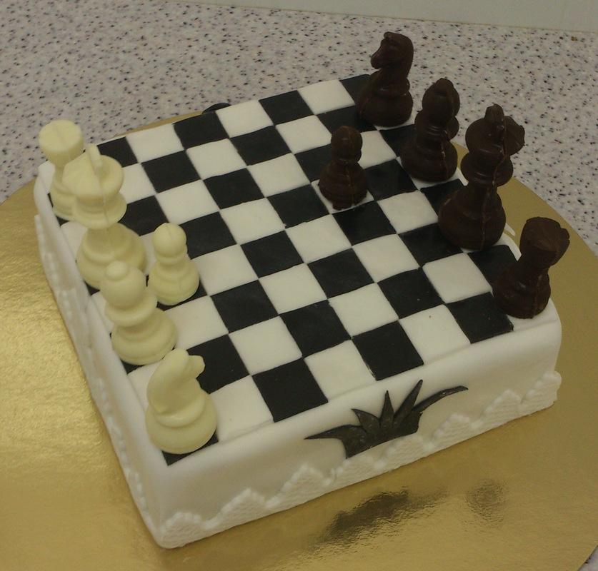 торты для детей в ввиде шахматной доски фото
